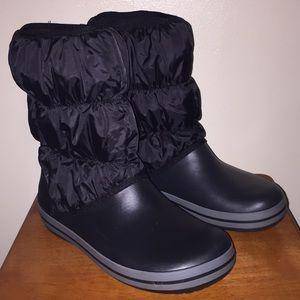 Crocs women's winter puff boots Sz 9